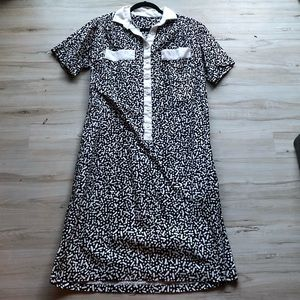 Vintage artsy shirt dress L